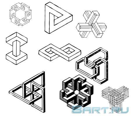 Как нарисовать 3D рисунок  Рисунки карандашом поэтапно