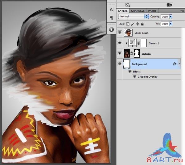 Photoshop как сделать фотографию нарисованной