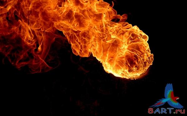 Как вырезать огонь из фона