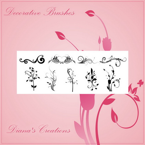 Decorative  & Flower Brushes by Diana Creations  декоративные цветы - кисти