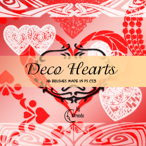 Кисти для Photoshop - Deco Hearts Brushes by Brenda