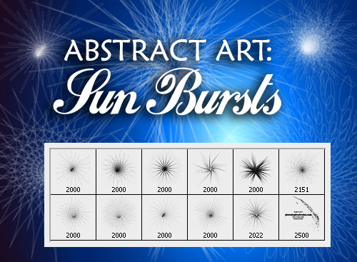 Abstract Art Photoshop Brushes - Sun Bursts