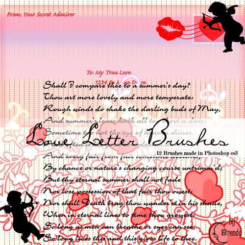����� ��� Photoshop - Love Letter Brushes by Brenda