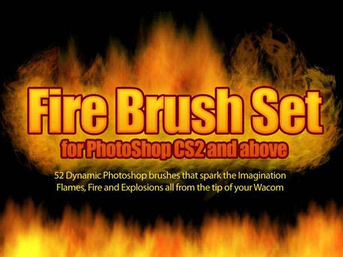 Fire Photoshop Brush Set