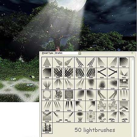 Light Photoshop Brushes