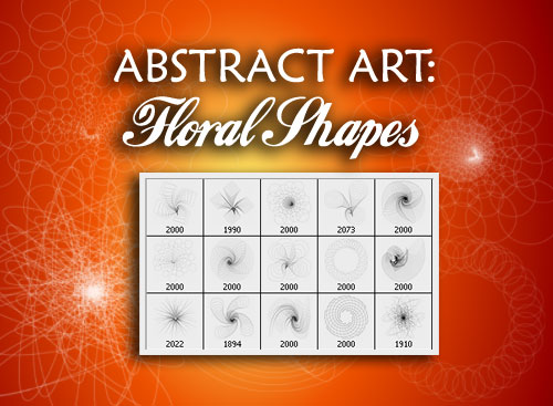 Abstract Art Photoshop Brushes - Floral Shapes