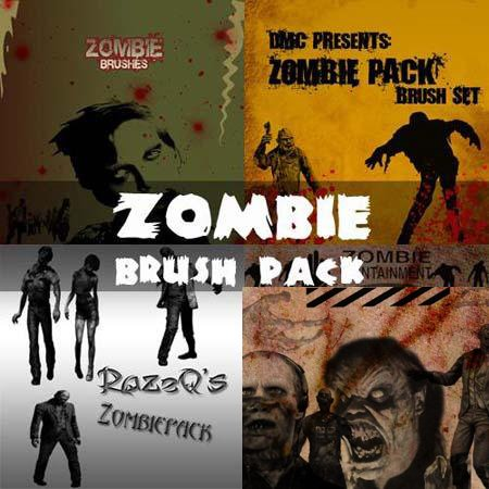 Zombie Photoshop Brushes