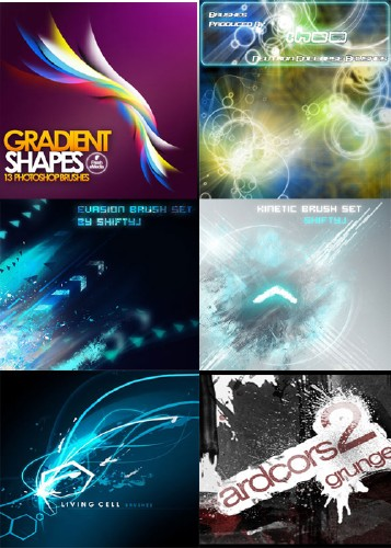 Abstract Brush Pack �1 + Bonus