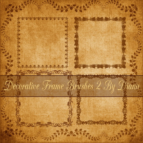 Decor Frame Brushes 4  By Diana  Декоративные рамки - кисти