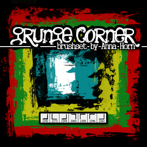 Brushes for Photoshop - Grunge Corner Pack 1