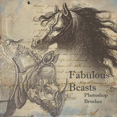 Fabulous Beasts Photoshop Brushes