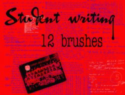 Student Writing Brushes. Кисти для Photoshop