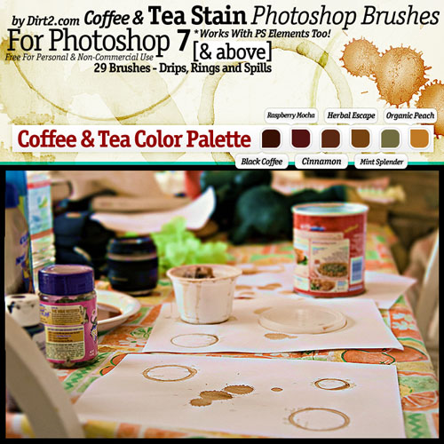 Brushes for Photoshop - Coffee and Tea Stain