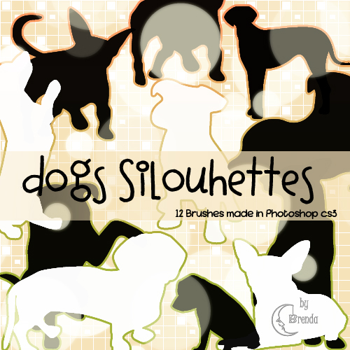 Кисти для Photoshop - Dogs Silhouettes Brushes by Brenda