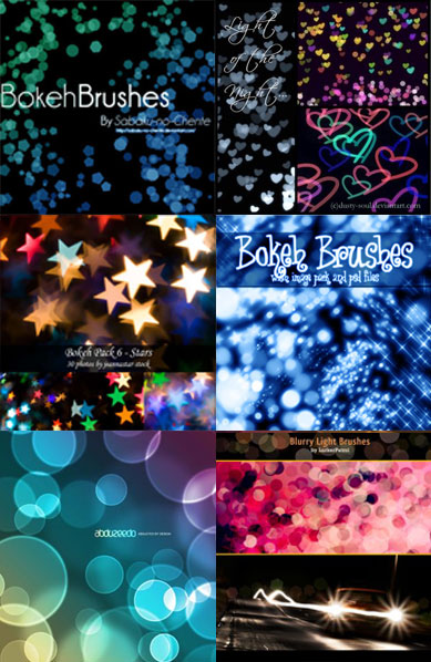 Bokeh Brushes для Photoshop