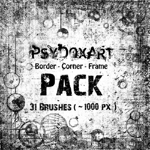 Border Corner Frame Brushes Pack - Набор кистей для Photoshop
