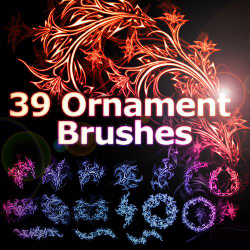 39 Ornament Brushes