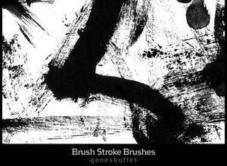 Кисти для Photoshop (Brush Stroke Brushes by Genesbuffet)