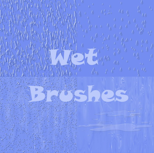Wet Photoshop Brushes