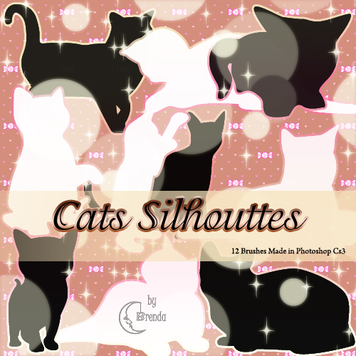 Кисти для Photoshop - Cats Silhouettes Brushes by Brenda