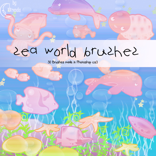 Кисти для Photoshop - Sea World Brushes by Brenda