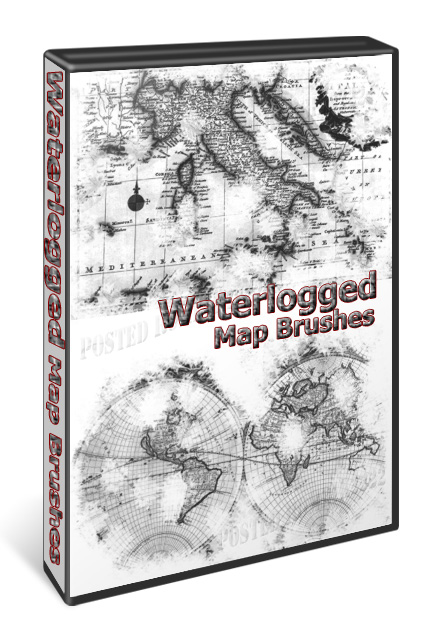 Waterlogged Map Brushes