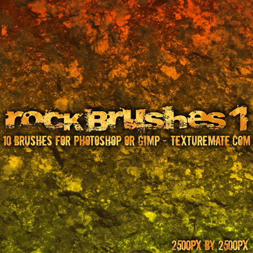 Rock Brush Pack for Photoshop or Gimp
