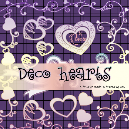 Кисти для Photoshop - Decorative Hearts by Brenda