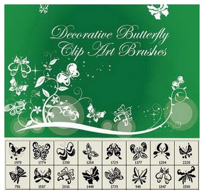 Decorative Butterflies Photoshop Brushes