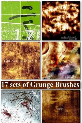 17 sets of Grunge Brushes