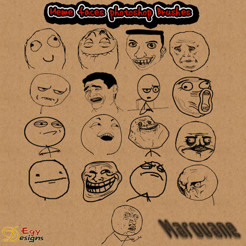 Brushes for Photoshop - Meme Faces