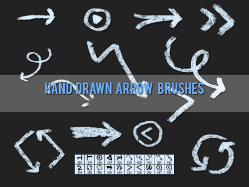 Brushes for Photoshop - Grungy Hand Drawn Arrow