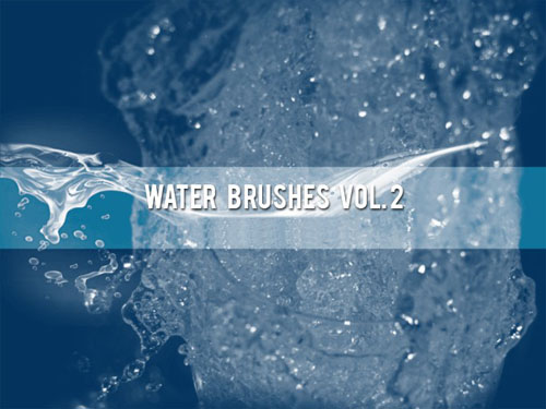 Water Brushes for Photoshop Vol. 2