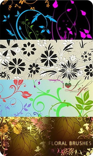 300 Floral Decorative Brushes