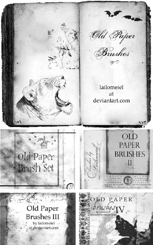 Old Paper Brush Pack