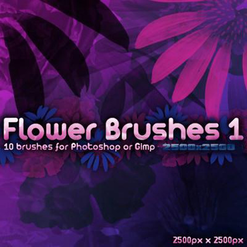 Photoshop Flower Brushes - Pack 1