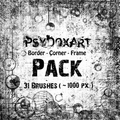 ����� ��� Photoshop -Border-Corner-Frame-PACK