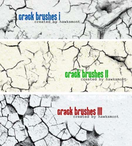 Crack Brushes Collection - 3 Sets