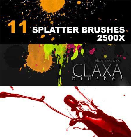 Кисти для Photoshop - Brush splatter