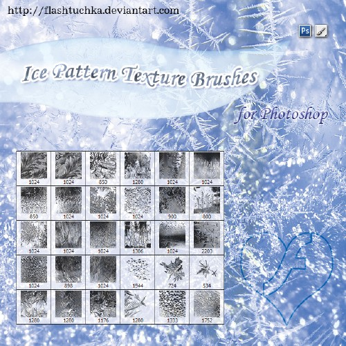 Ice Pattern Texture Brushes