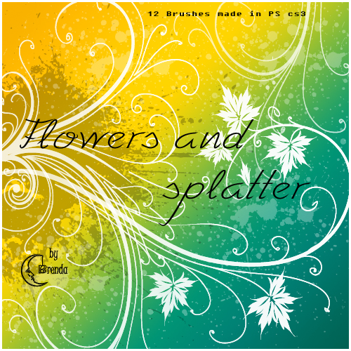 ����� ��� Photoshop - Splatter and Swirls Brushes by Brenda