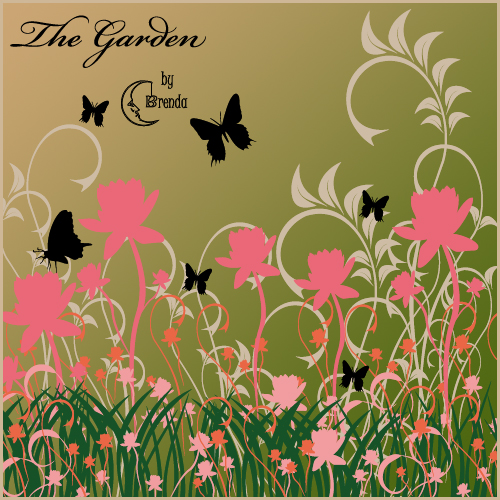 Кисти для Photoshop - The Garden Brushes by Brenda
