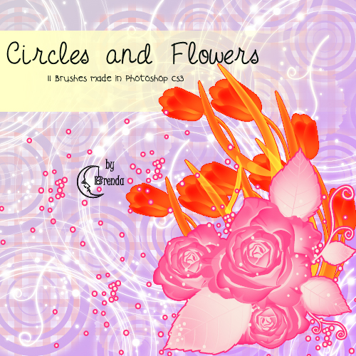 Кисти для Photoshop - Circles and Flowers Brushes by Brenda