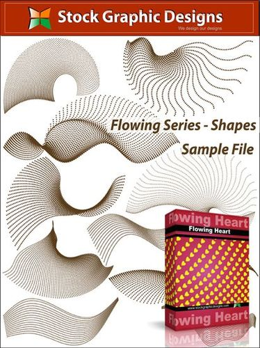 "Набор кистей ""Flowing Series Shapes"""