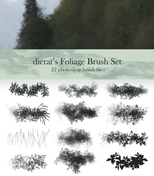 Foliage Brush Set