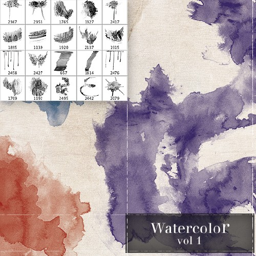 Watercolor Brushes vol.1
