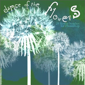 Dance of the Flowers Brushes. ����� ��� Photoshop