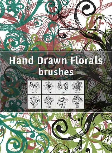 Hand Drawn Florals Brushes