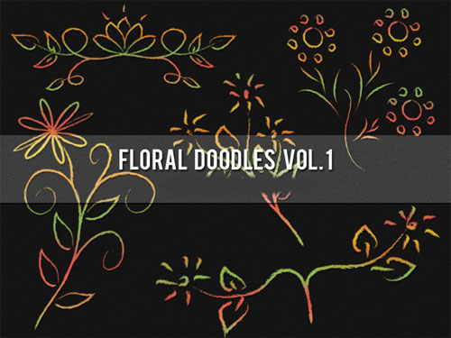Brushes for Photoshop - Floral Doodles Pack 1