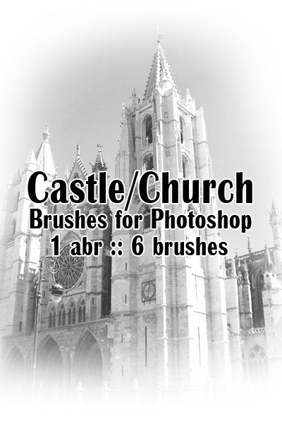 Castle/Church. Кисти для Photoshop